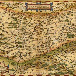 17025024-Antique-Map-of-Transylvania-Romania-by-Abraham-Ortelius-circa-1570--Stock-Photo